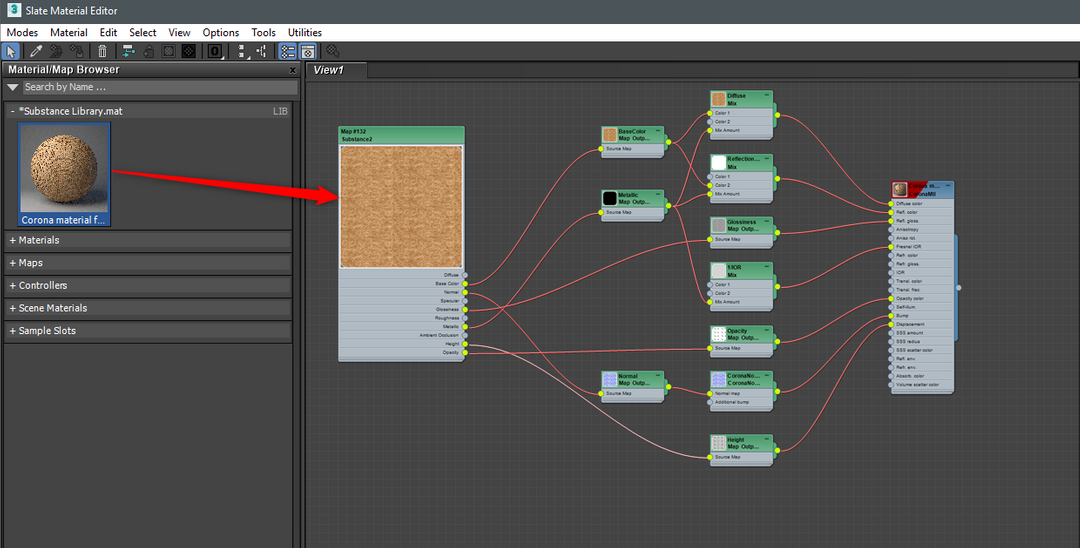 Substance in 3ds Max Editor View