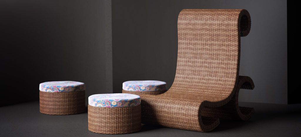 Substance in 3ds Max Wicker Chair Preview Shot